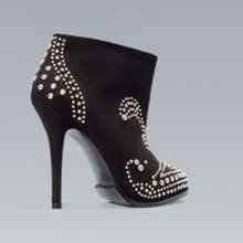 Zara Black studded ankle boots